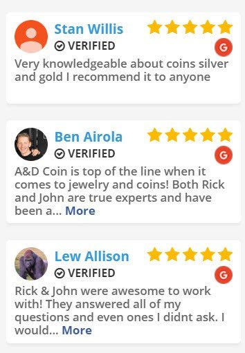 A&D Coin And Jewelry Exchange Five Star Reviews